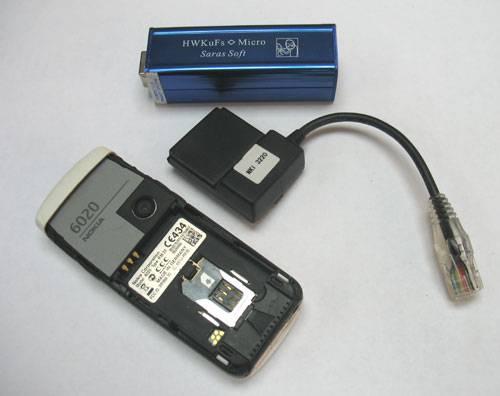 Подключение программатора и кабеля