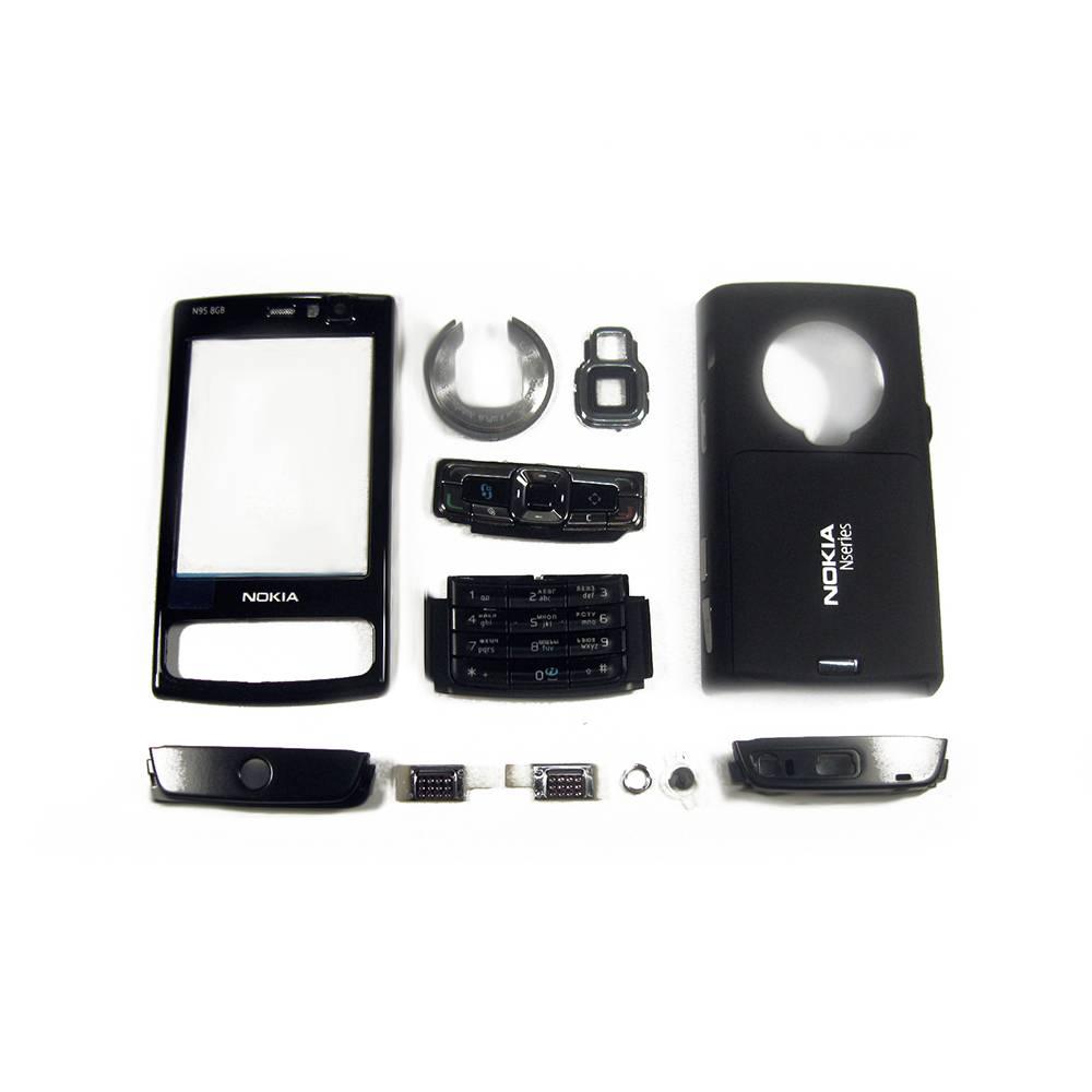 ЗАПЧАСТИ ДЛЯ СОТОВЫХ :: ЗАПЧАСТИ ДЛЯ NOKIA, MICROSOFT :: КОРПУСА :: Средняя часть корпуса Nokia N95 8 Gb с компонентами