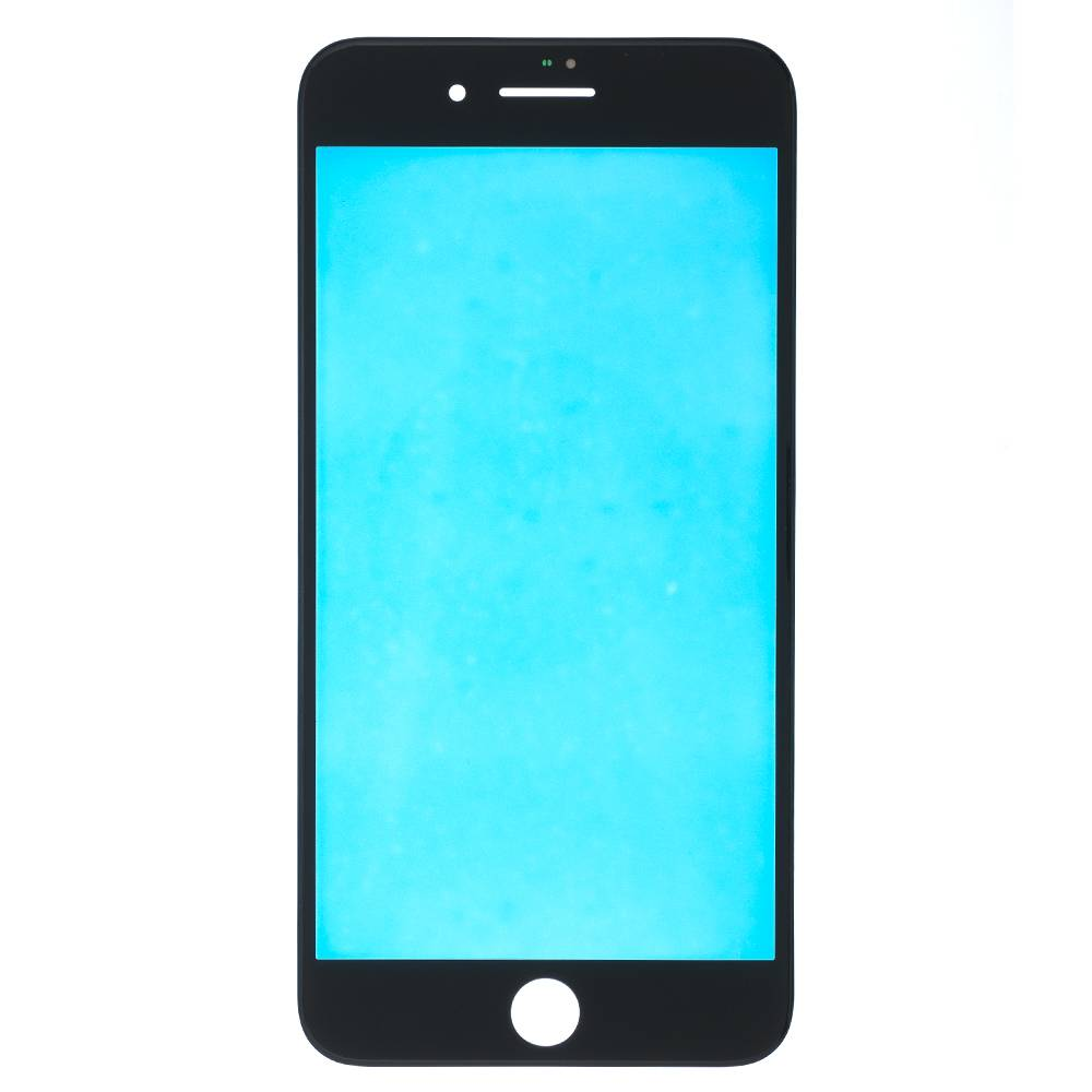 ЗАПЧАСТИ для APPLE :: ЗАПЧАСТИ для APPLE IPHONE :: СТЕКЛА, ТАЧСКРИНЫ для iPhone :: Стекло+рамка для iPhone 8 Plus (черный)