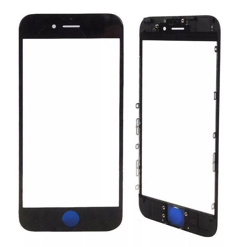 ЗАПЧАСТИ для APPLE :: ЗАПЧАСТИ для APPLE IPHONE :: СТЕКЛО+РАМКА+КЛЕЙ OCA для iPhone :: Стекло+рамка+клей OCA для iPhone 8 Plus (черный)