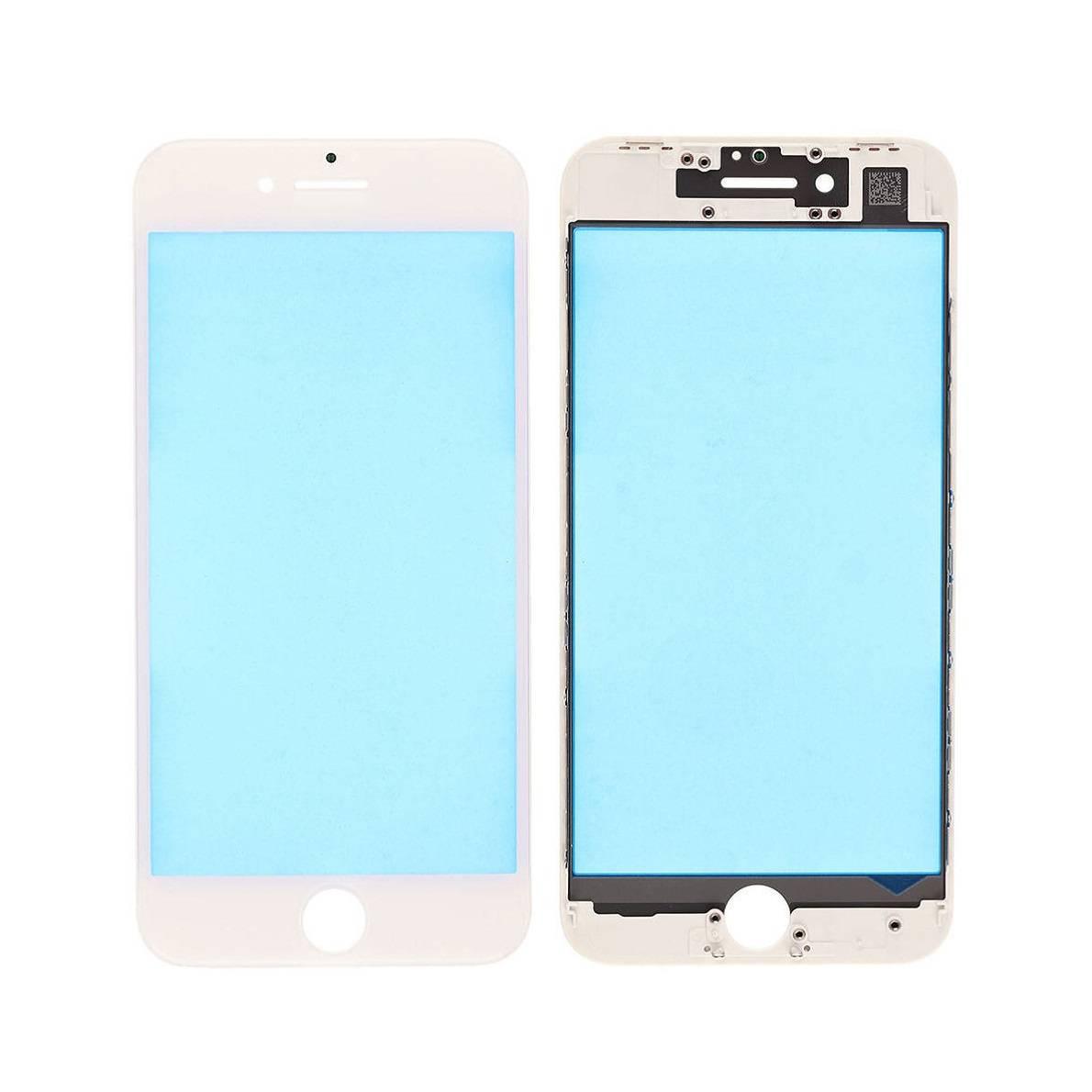 ЗАПЧАСТИ для APPLE :: ЗАПЧАСТИ для APPLE IPHONE :: СТЕКЛО+РАМКА+КЛЕЙ OCA для iPhone :: Стекло+рамка+клей OCA для iPhone 8 Plus (белый)