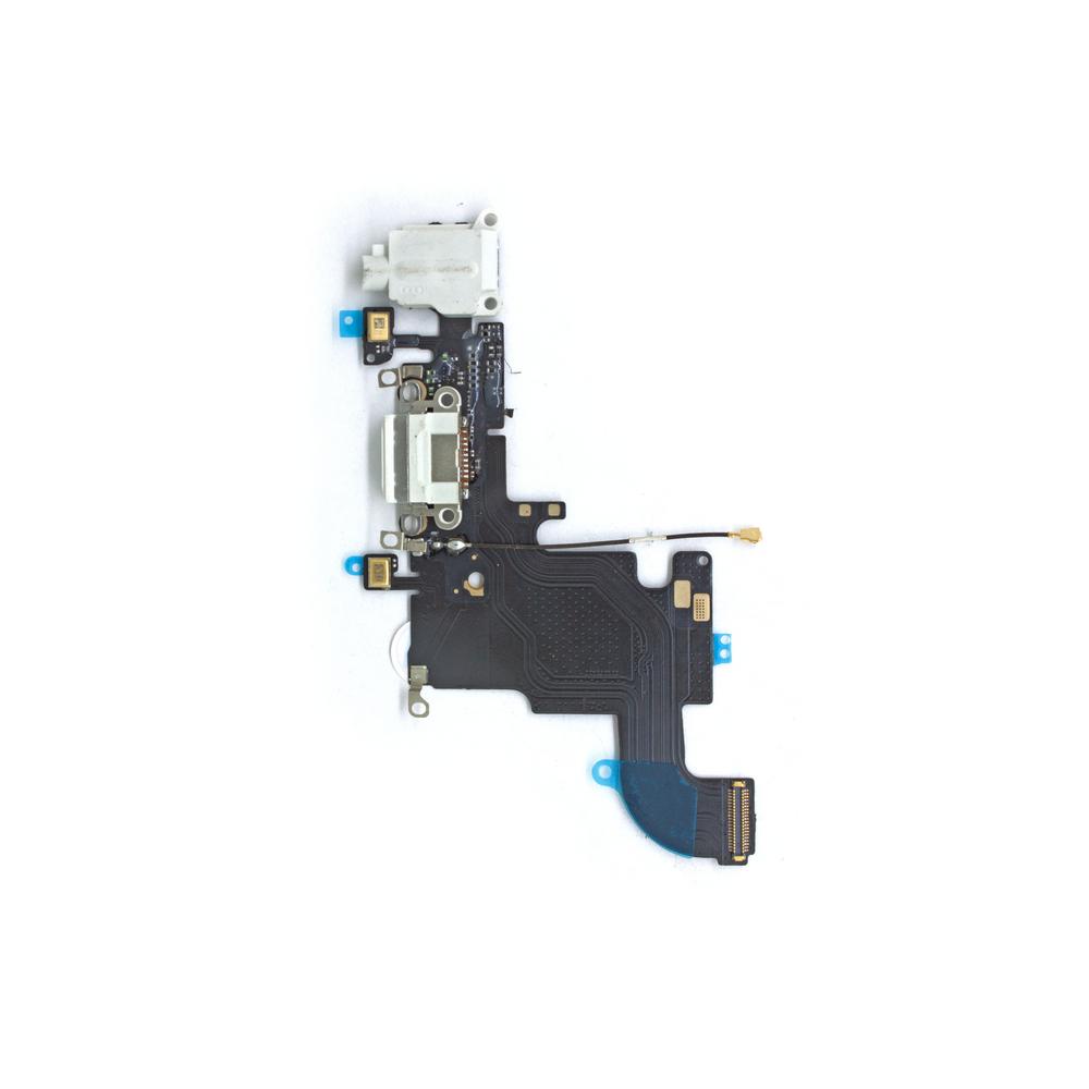 ЗАПЧАСТИ для APPLE :: ЗАПЧАСТИ для APPLE IPHONE :: ШЛЕЙФА для iPhone :: Шлейф для iPhone 6S (белый) с разъемом для зарядки,аудио разъемом и микрофоном